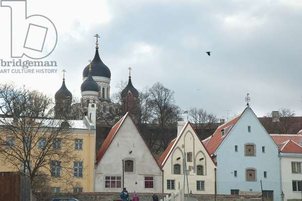 Hansa Houses With the Alexander Nevsky Cathedral in the Background, Tallinn, Estonia (photo)