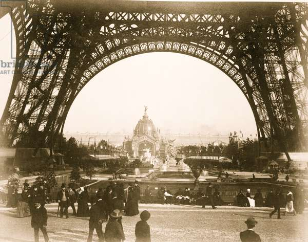 Paris Universal Exposition as seen from the Base of the Eiffel Tower 1899 (photo)