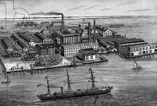 India Rubber, Gutta Percha & Telegraph Works Company, Silvertown, London. Wood engraving 1887