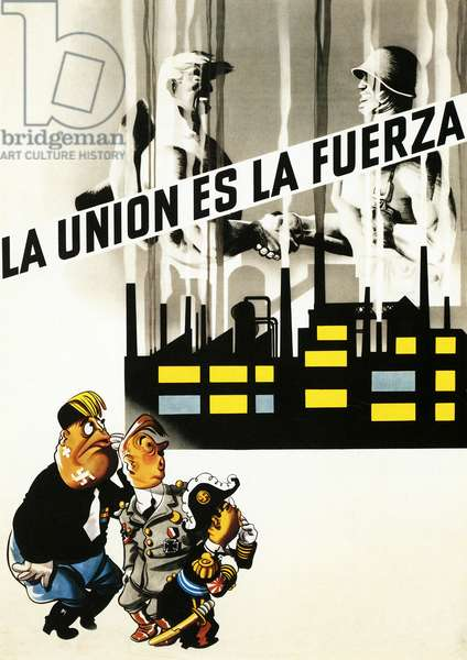 Political Poster. United States. 1939. Unity is strength.