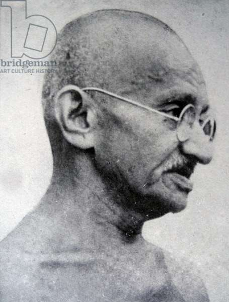 Gandhi, the Indian mystic, politician and leader of the Indian National Congress.