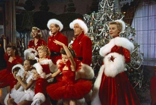 Rosemary Clooney, Danny Kaye, Bing Crosby and Vera-Ellen in the film White Christmas, 1954