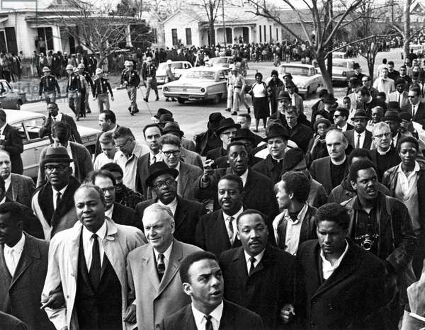 Selma To Montgomery March, Selma, Alabama, USA, 1965 (b/w photo)