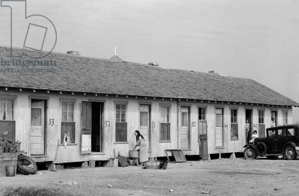 Mexican migrant housing. Edcouch, Texas.