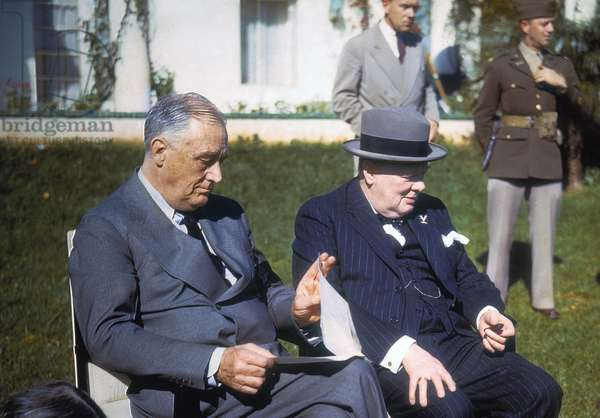 President Franklin D Roosevelt and Prime Minister Churchill