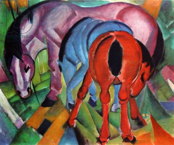 Three Horse 1912, by Franz Marc (1880 – 1916)