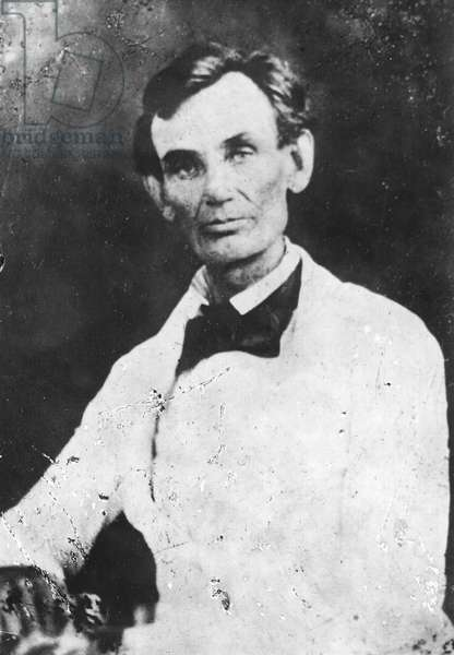 Abraham Lincoln : Abraham Lincoln; from a photograph made at Beardstown, Illinois, during the 1858 debates ©Encyclopaedia Britannica/UIG/Leemage