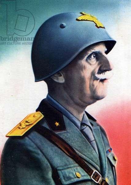 Propaganda poster of King Victor Emmanuel III, 1936 (photo)