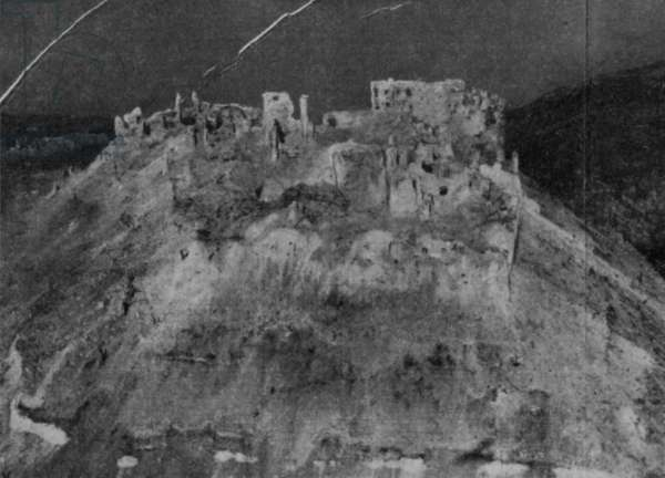 Ruins of Cassino, 1942 (b/w photo)