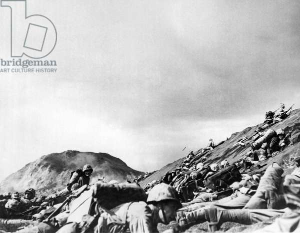 Marines Land On Iwo Jima, 1945 (b/w photo)