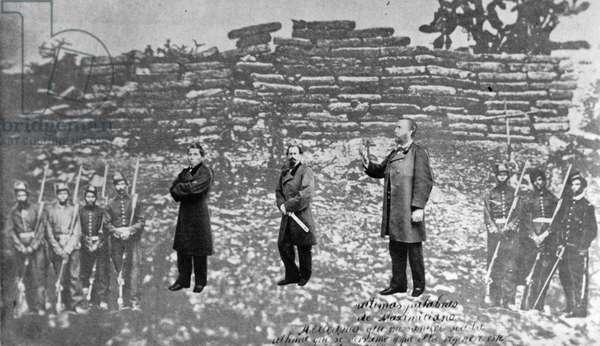 Emperor Maximilian of Mexico, Tomás Mejía, and Miguel Miramón, 1867
