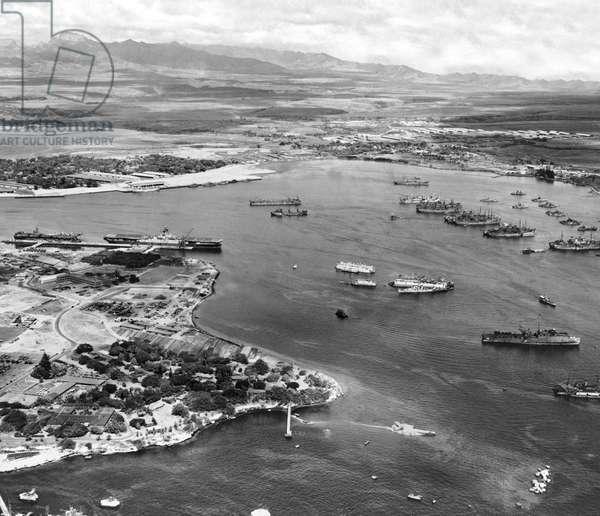 Pearl Harbor , Pearl Harbor, Hawaii, March 14, 1946 (b/w photo)