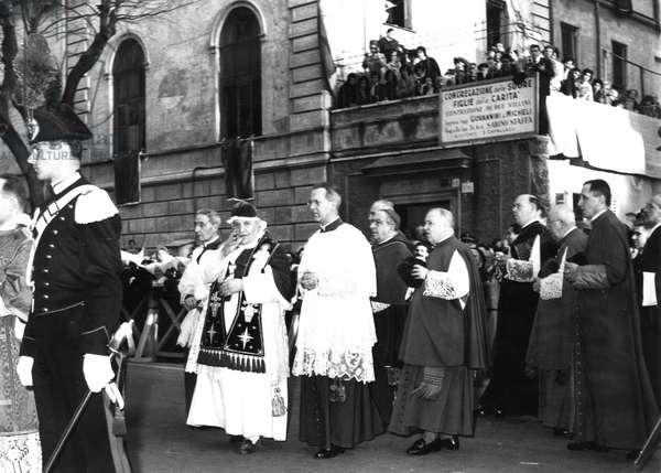 Rome March 12, 1951 Visit the Church of Saint Joachim