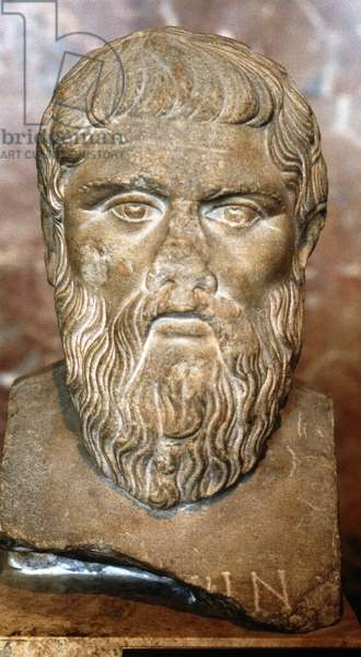 Plato (c428-c348 BC) Greek philosopher. Portrait bust.