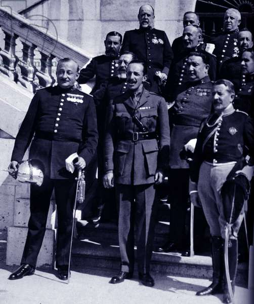 King Alfonso XIII of Spain with Don Miguel Primo de Rivera, 1923