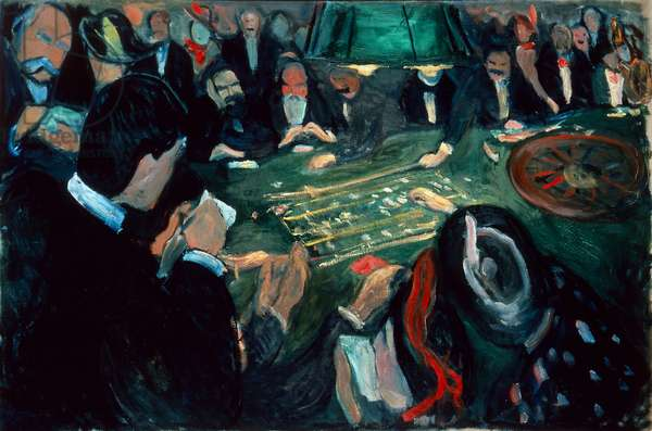 At the Roulette Table in Monte Carlo, 1892 (oil on canvas)