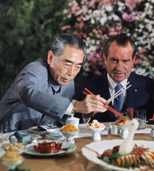 President Richard Nixon and Chinese Premier Zhou En Lai