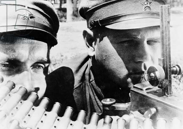 Machine gunners eastern front of the Red Army