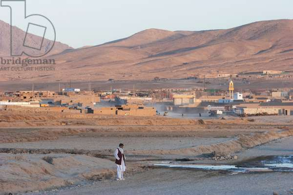 The Planned City of Maidan Shar in the Late Afternoon, Vardak Province, Afghanistan (photo)