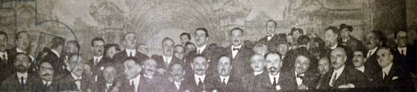 Spanish Liberal politicians gather at Zaragoza in 1936