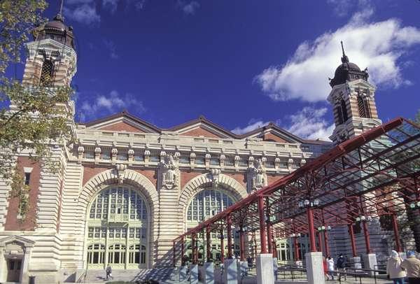 New York City.  Ellis Island,  Front Entrance