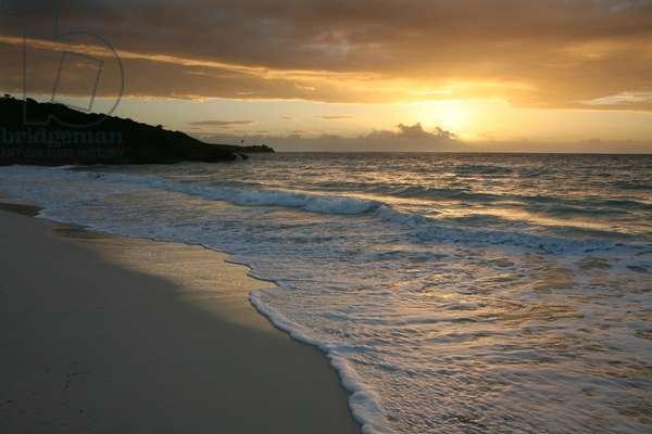 Puerto Rico, Isla de Vieques (Vieques Island), Navio Beach, sunset