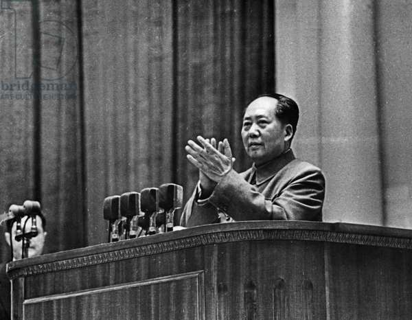 Mao Tse-Tung (Zedong), Chairman of the People'S Republic of China, Speaking at the Jubilee Session of the USSR Supreme Soviet Dedicated to the 40Th Anniversary of the October Revolution, Moscow, 1957.