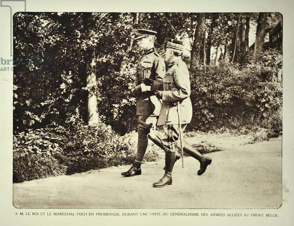 King Albert I and Field Marshal Ferdinand Foch in Flanders during the First World War, Belgium ©UIG/Leemage
