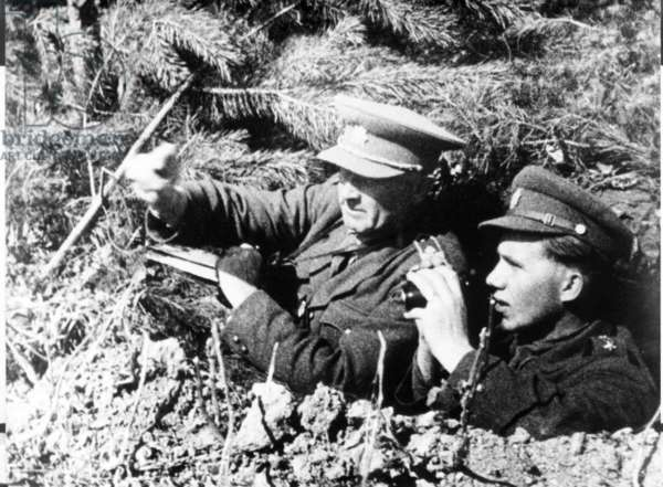 General Ludvik Svoboda With Ivan Turanica, Officer Of The 3Rd Brigade Of The First Czechoslovak Army Corps During The Carpathian-Dukla Operation, In World War Ii.