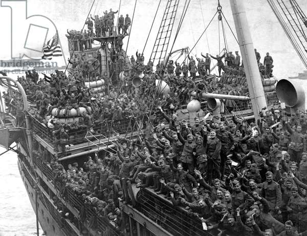 American Soldiers returning from War, 1918