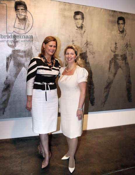 Russian President's Wife And Uk Prime Minister's Wife At The Andy Warhol Museum