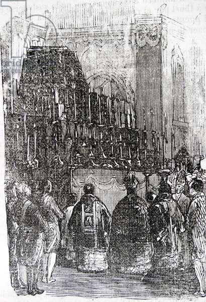 The funeral of José Moñino