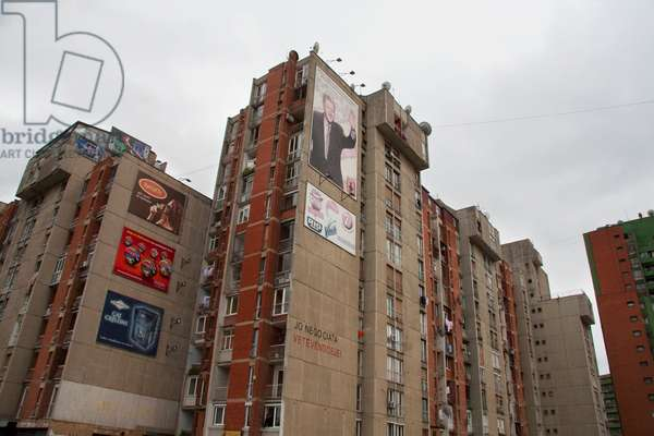 Bill Clinton Billboard, Prishtina, Kosovo (photo)