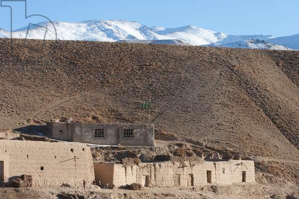 Mud Houses in Shibar, Bamian Province, Afghanistan (photo)