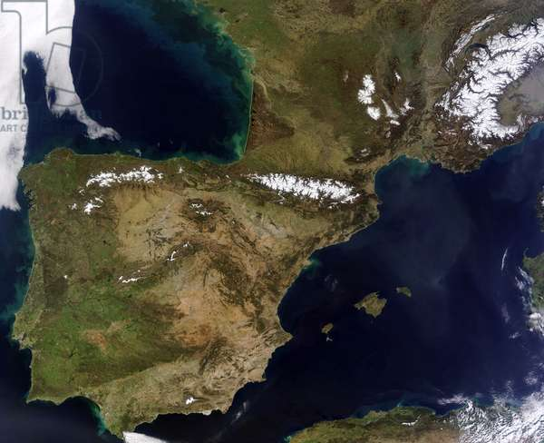 Western Europe over the Iberian Peninsula