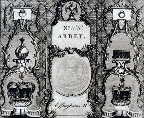 Invitation for the coronation of King Edward VII and Queen Alexandra of Denmark, 1850