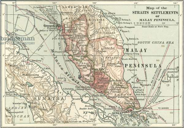 Map of the Malay Peninsula