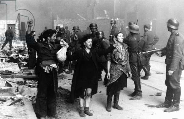 Polish Jewish resistance women, captured after the destruction of the Warsaw Ghetto, Poland