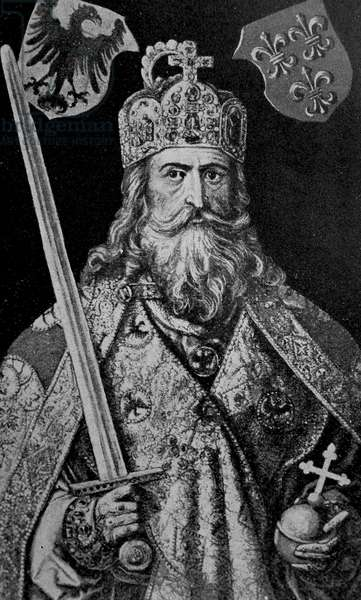 Portrait of King Charlemagne