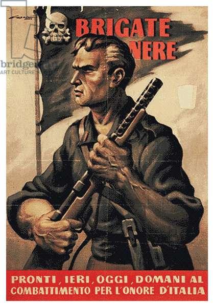 Italian world war two propaganda poster