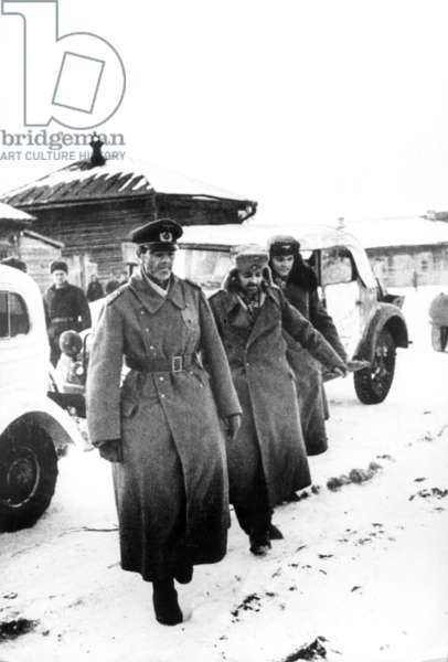 German Field-Marshal Von Paulus Taken Prisoner after Being Defeated at Stalingrad in the Battle of the Volga, 1943.