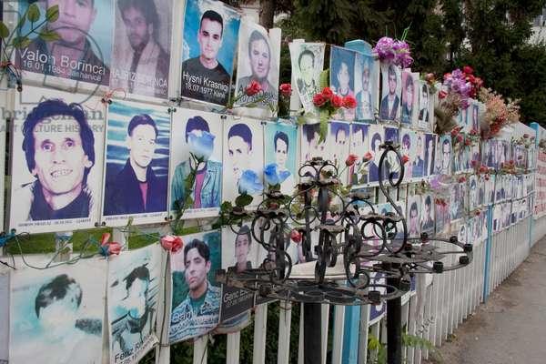 Photos of Victims of the Kosovo Conflict, Prishtina, Kosovo (photo)