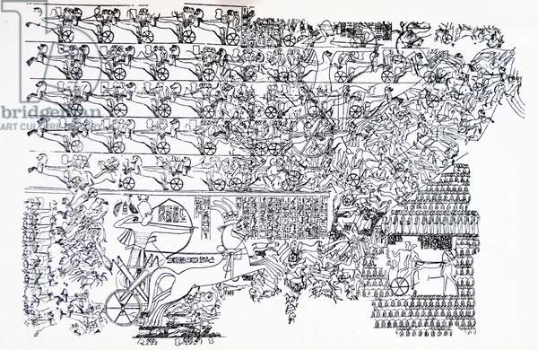The Battle of Kadesh (Qadesh) between the Egyptian Empire under Ramesses II and the Hittite Empire under Muwatalli II