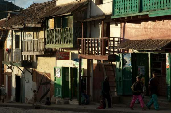 Houses in the Haute-Ville of Fianarantsoa, Madagascar (photo)