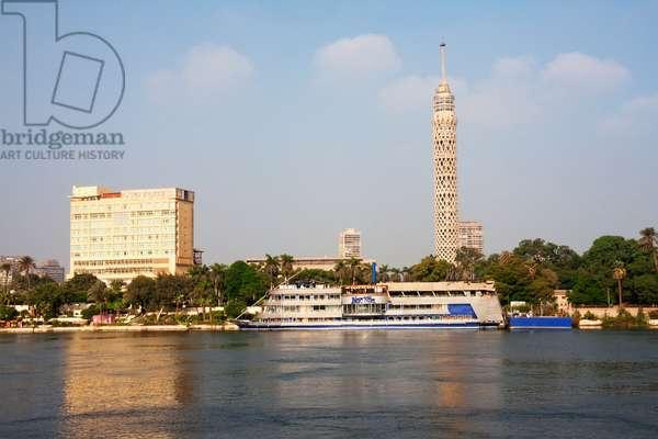 Nile River and Cairo Tower, Cairo, Al Qahirah, Egypt (photo)
