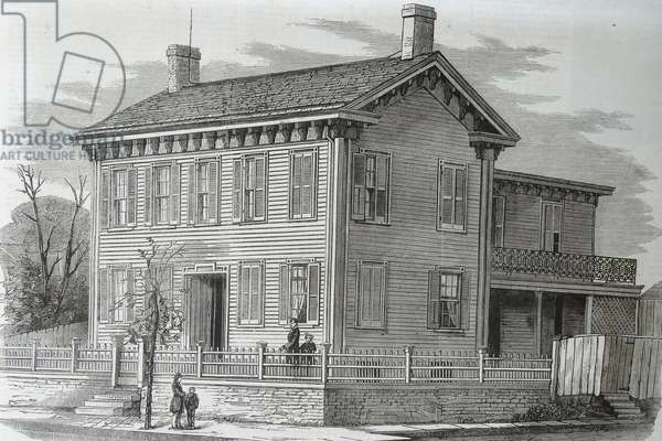 The residence of Abraham Lincoln, Springfield, Illinois, 1860 (engraving)
