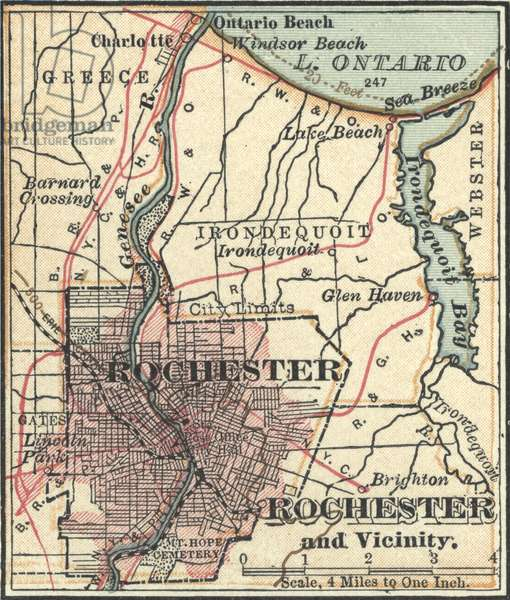 Map of Rochester