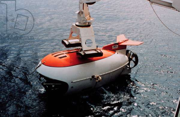 MIR submarine used to film underwater footage appearing in the movie 'Titanic.' 1997