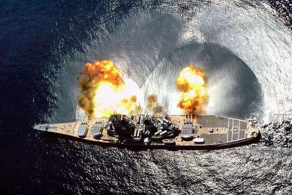 The American Navy battleship, USS Iowa