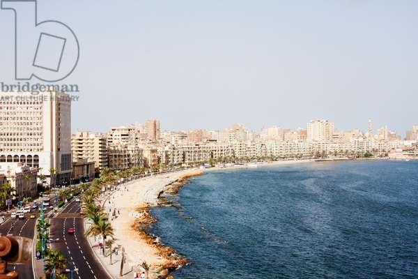 Buildings on the Corniche Along the Mediterranean Sea, Alexandria, Al Iskandar (photo)